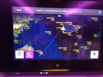 Mini TV on Air NZ Flight